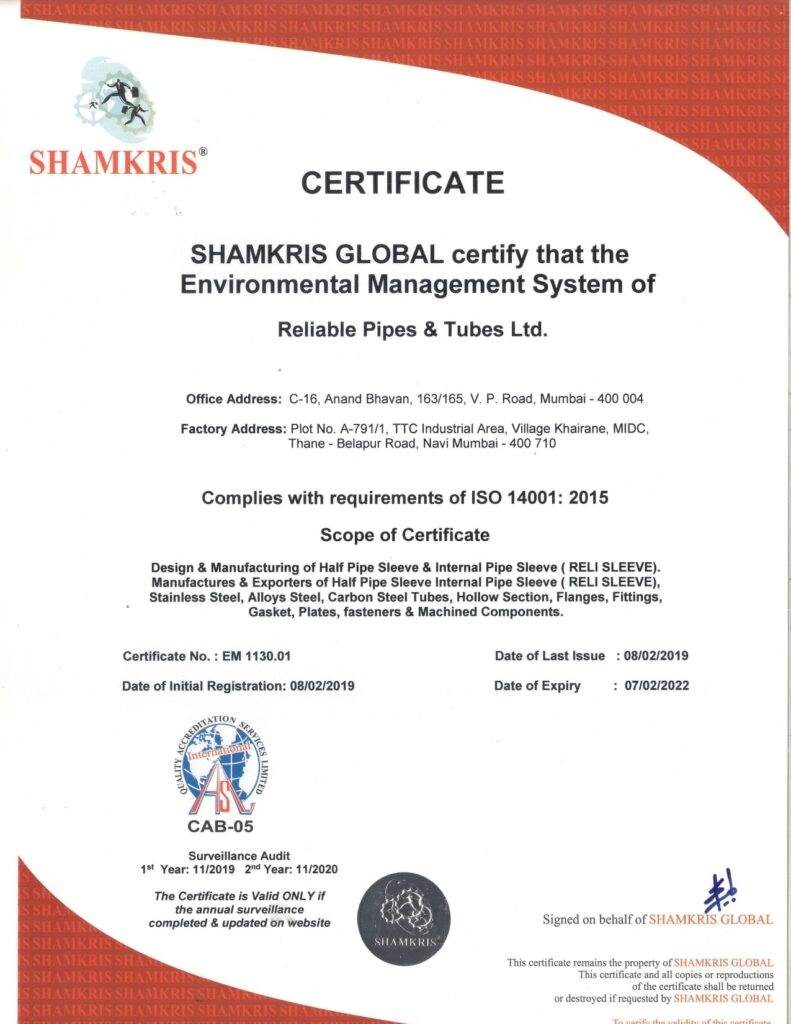 ISO-14001-2015-RELIABLE-PIPES-TUBES-LTD