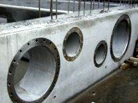 wall sleeve cast in concrete flange bolted